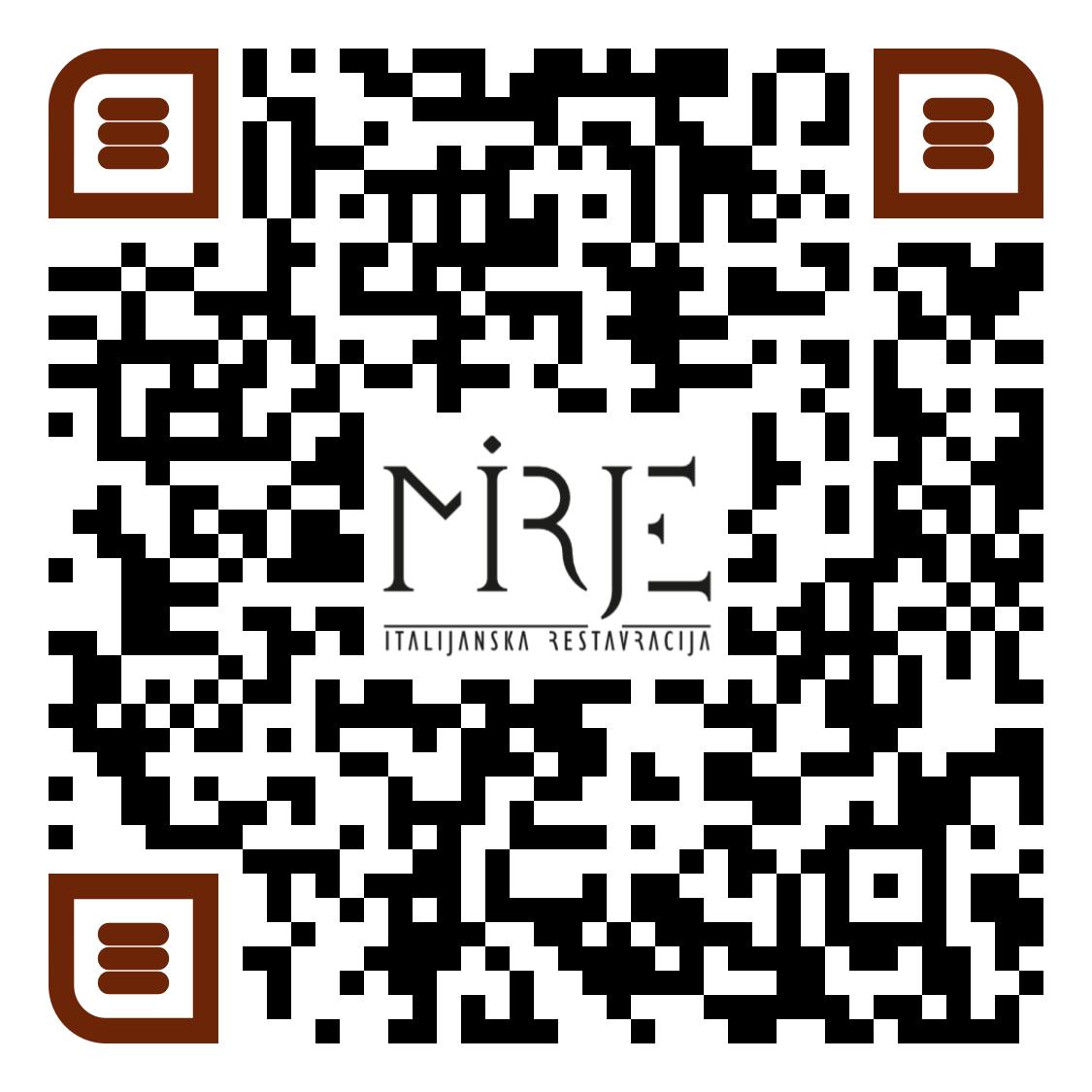 QR koda za jedilni list restavracije