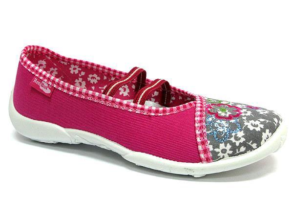Pantofole bambina Amelia rosa-grigio