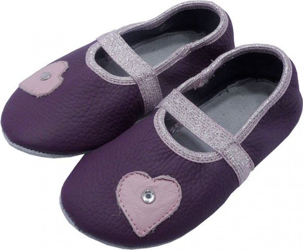 0658 Kids slippers heart pearl