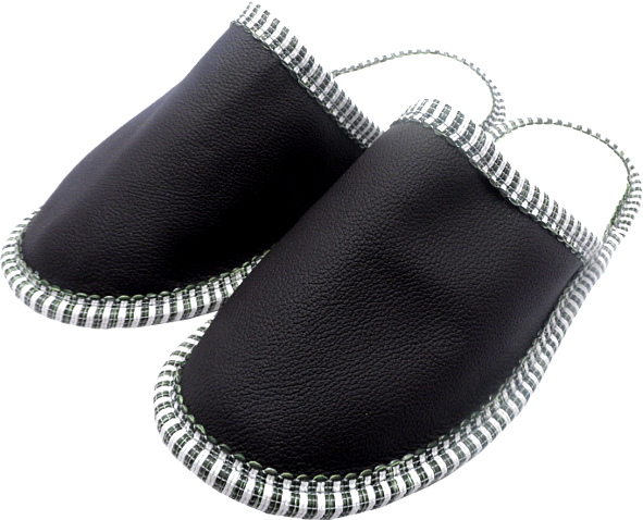 0037 Slippers leather black