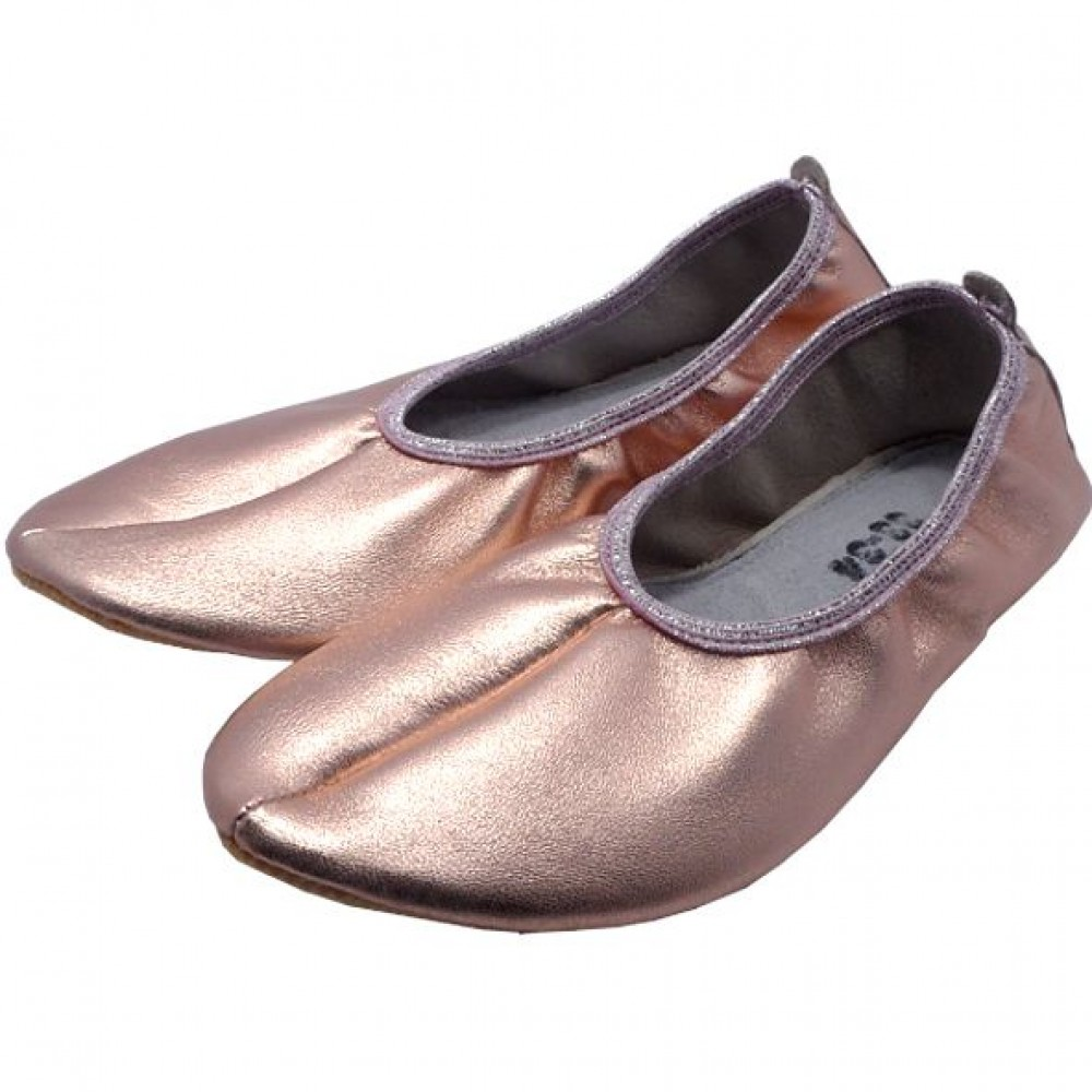0029 Slippers gold pink