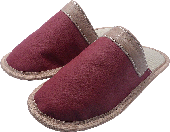 0258 Slippers Edo red