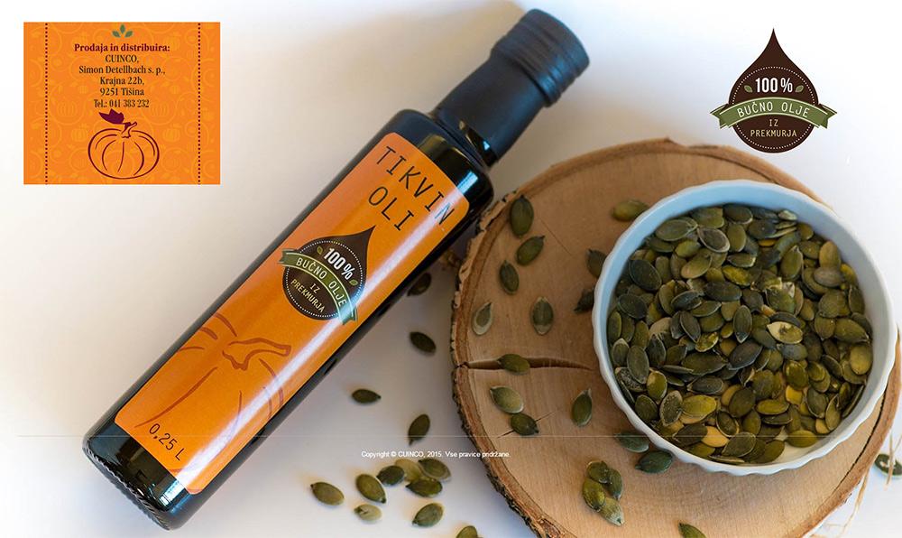 Tikvino - domače bučno olje