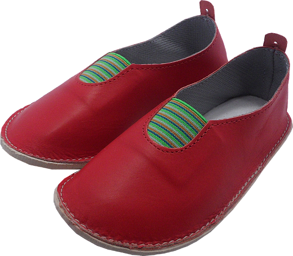 0033 Slippers scout red