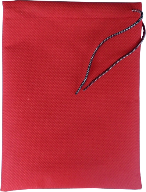 0127 Vrečka za copate rdeča