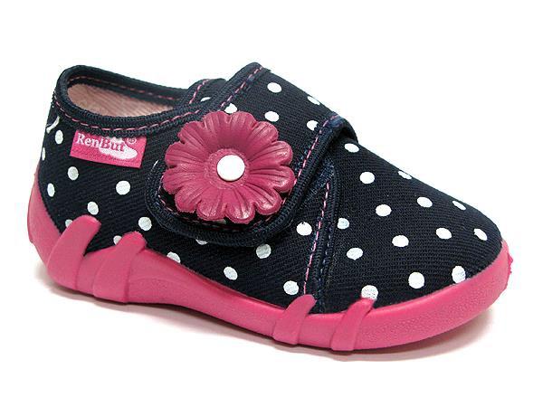 Pantofole bambina Vittoria nero a pois
