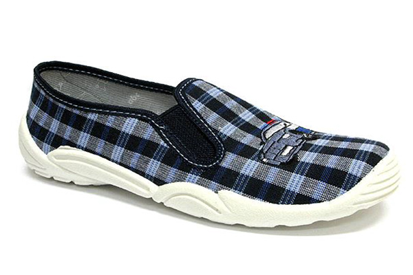 Pantofole bambino Michele quadretti blu