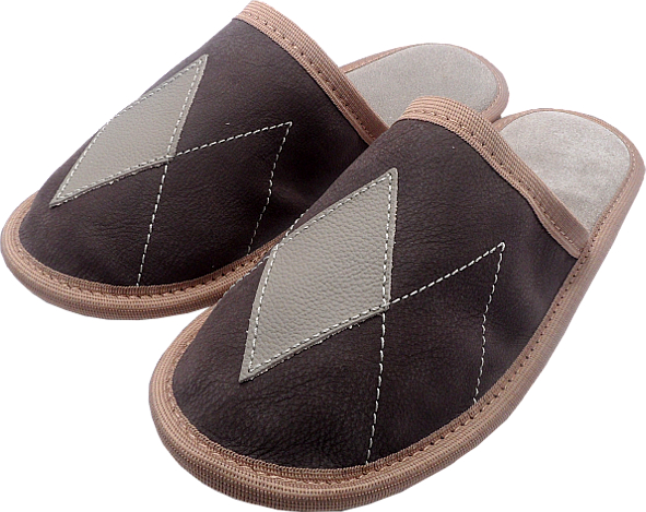 0157 Slippers oxford brown