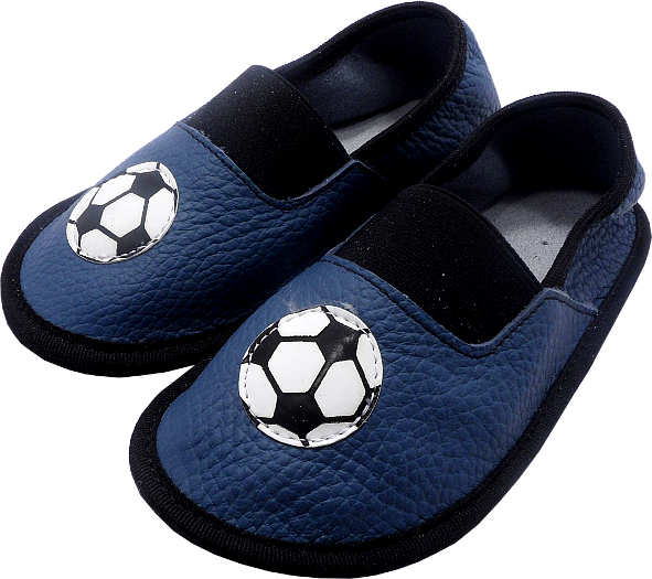 0148 Kids Slippers Football Blue