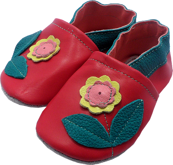 0196 Baby slippers flower