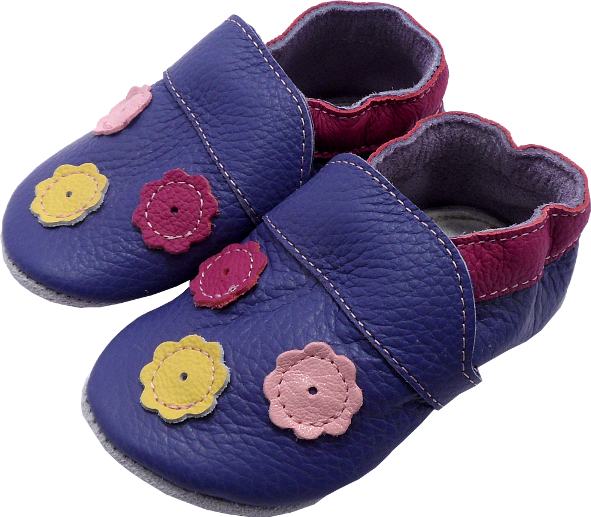 0197 Baby slippers 3 flowers
