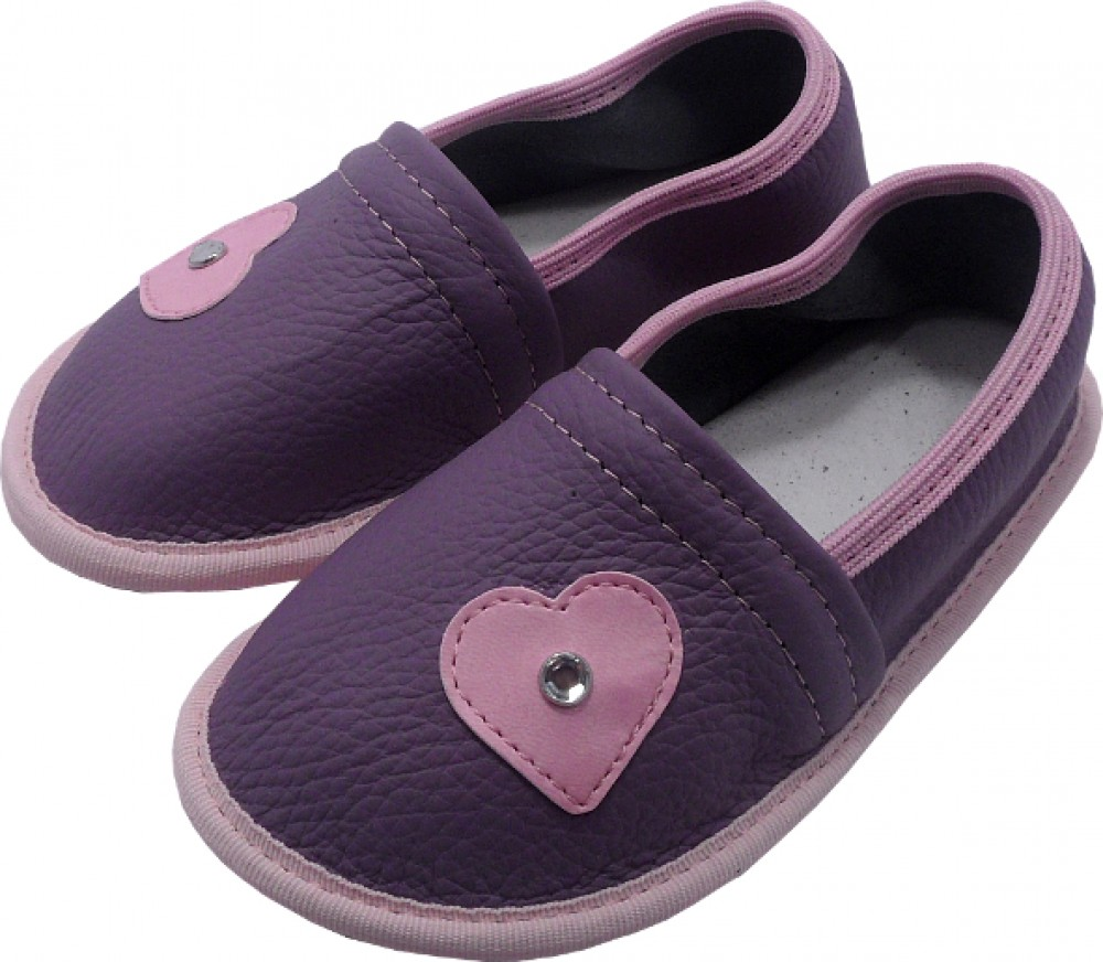 0223 Kids slippers with heart and pearl