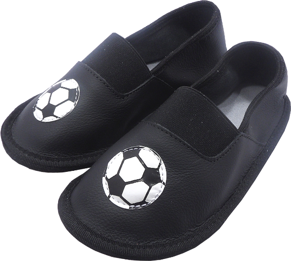 0148 Kids Slippers Football Black