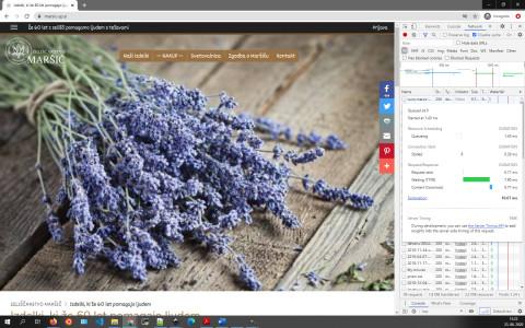 Zeliščarstvo Maršič - Home page; TTFB: 7.90ms