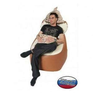 Sedežna vreča Free-dom 300, Futura, Rjava